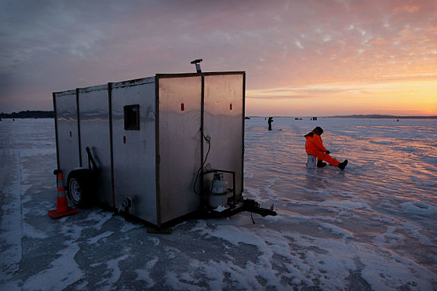 Nd fish houses must float for Mn ice fishing