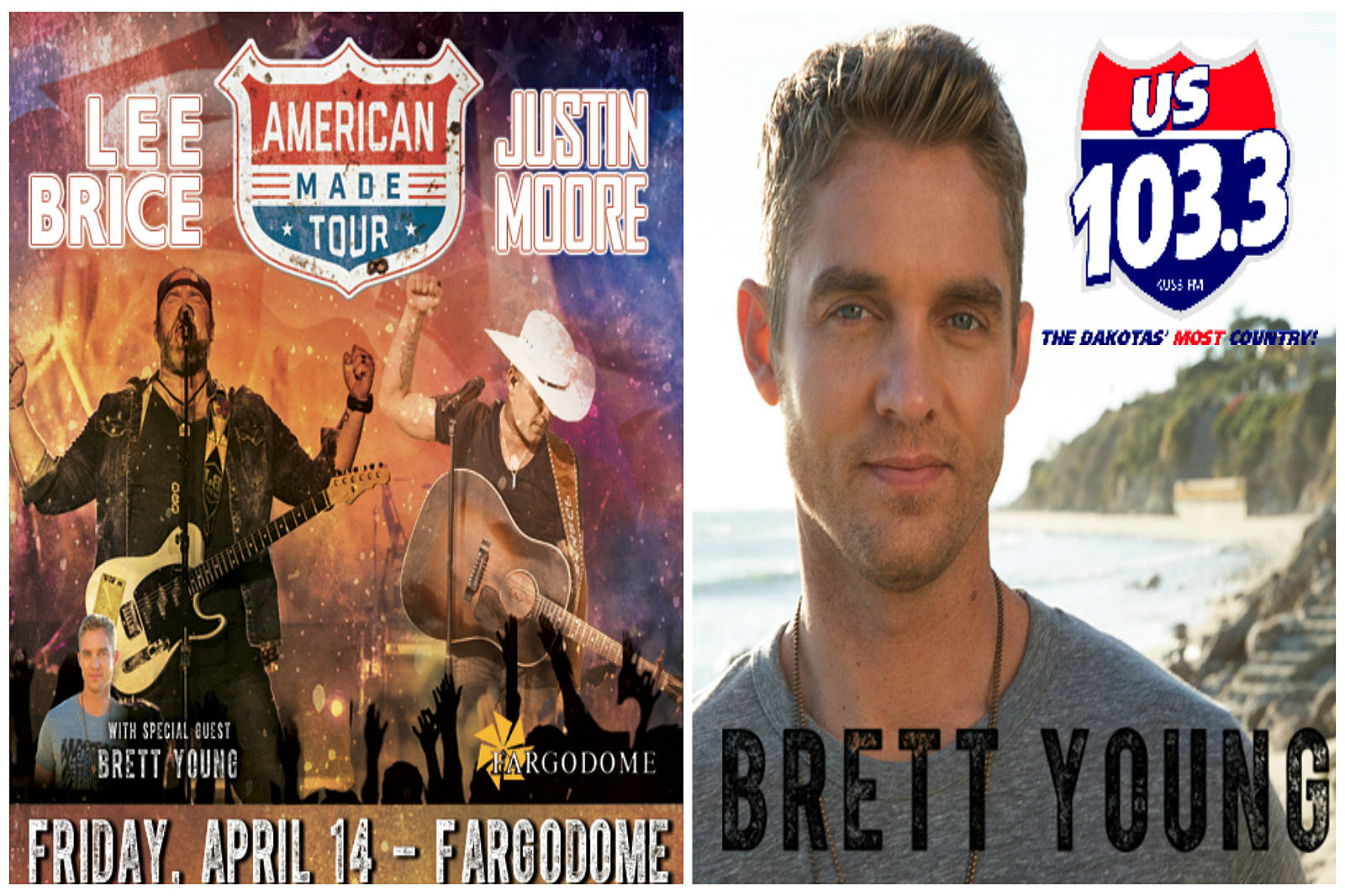 Justin Moore Lee Brice And Brett Young Are Coming To Fargo
